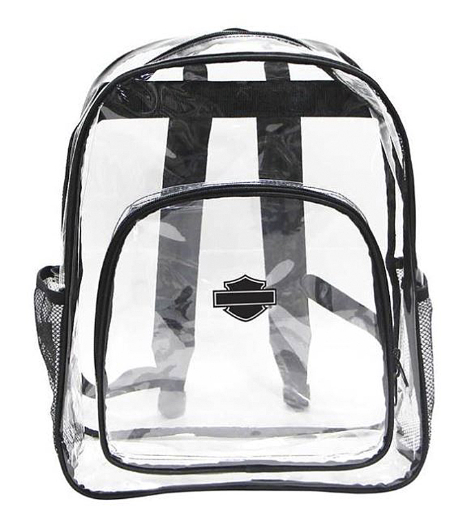 Harley-Davidson® Total Transparency Clear Backpack | Security Approved