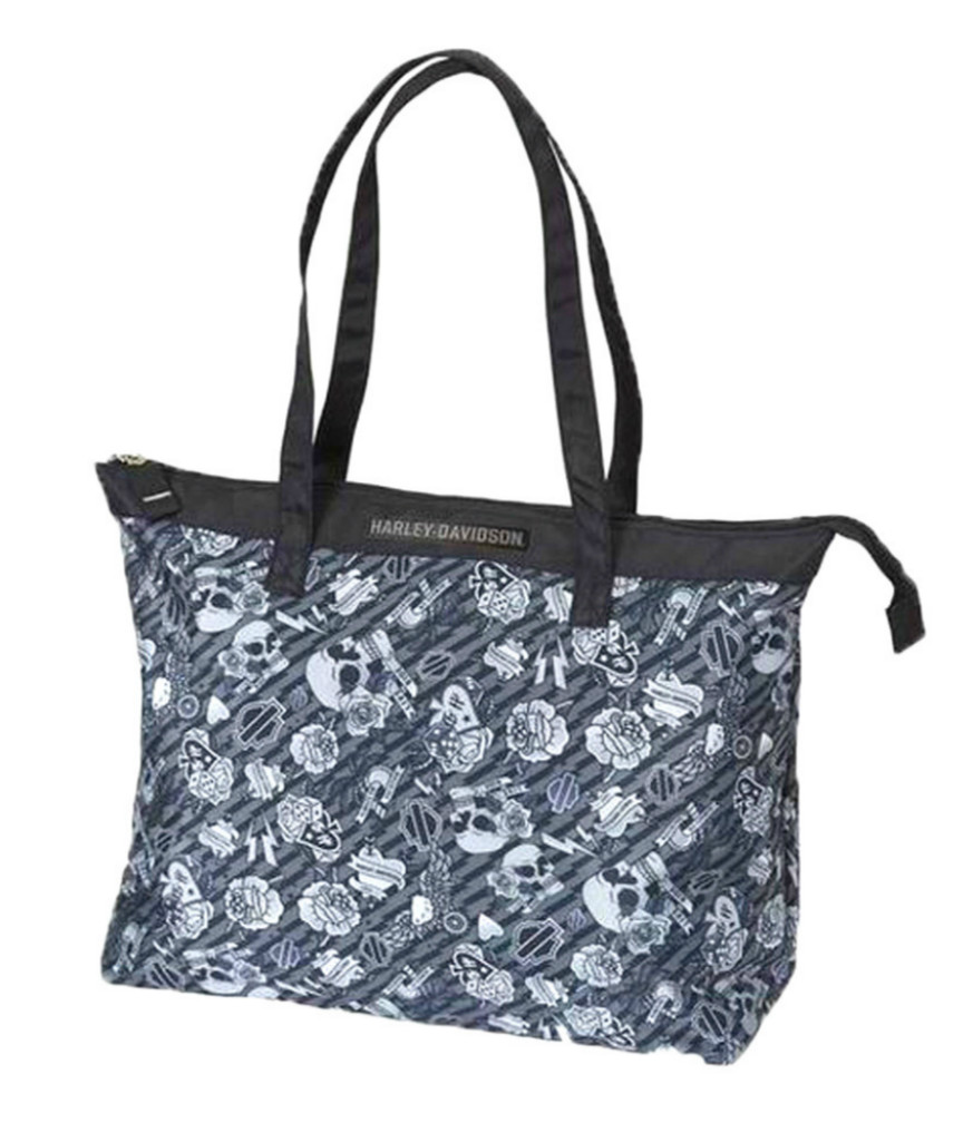 Harley-Davidson® Women's Grey Tattoo Tote   Fully Lined