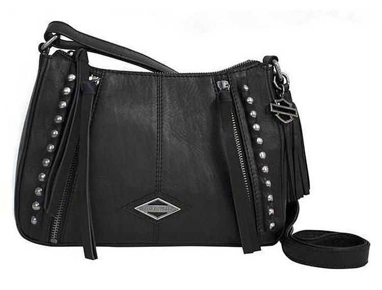 Harley-Davidson® Women's Ball & Chain Saddle Crossbody Bag   Adjustable Strap