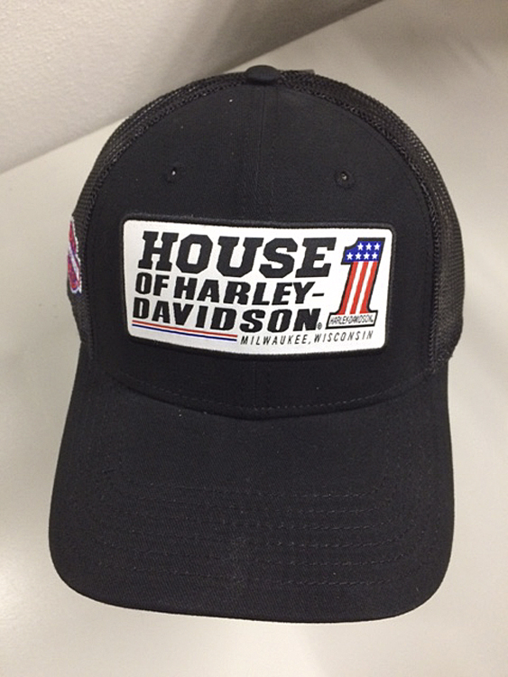 Harley-Davidson® Men's Trucker Cap | Customized With House #1 Emblem | One Size Fits Most
