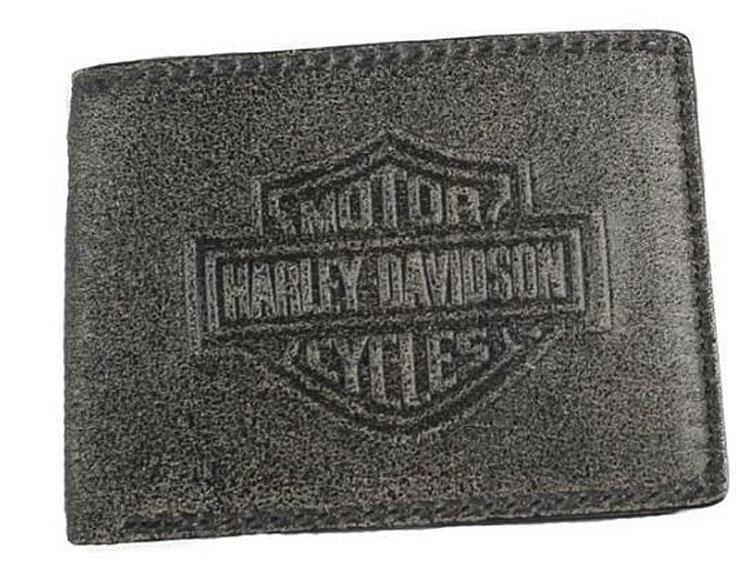 Harley-Davidson® Men's Burnished Bar & Shield® Billfold Wallet | RFID Protection | Removable ID