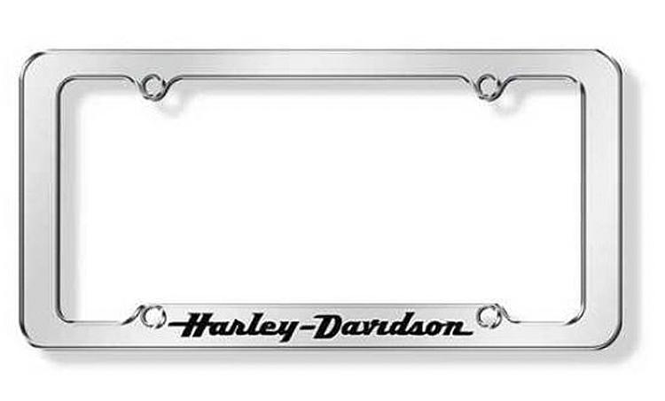 Harley-Davidson® Black Letters Script Auto License Plate Frame