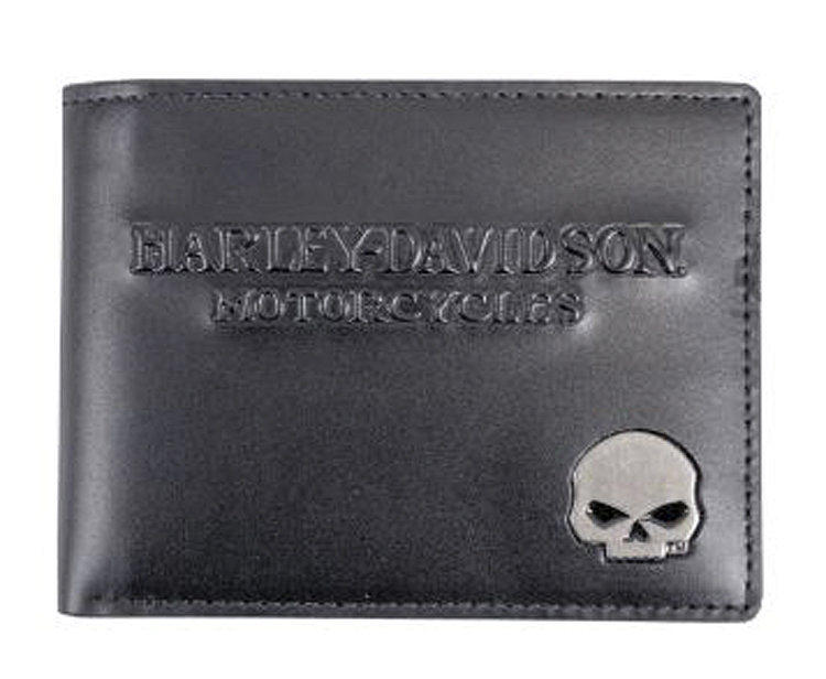 Harley-Davidson® Skull Medallion Billfold | Removable ID