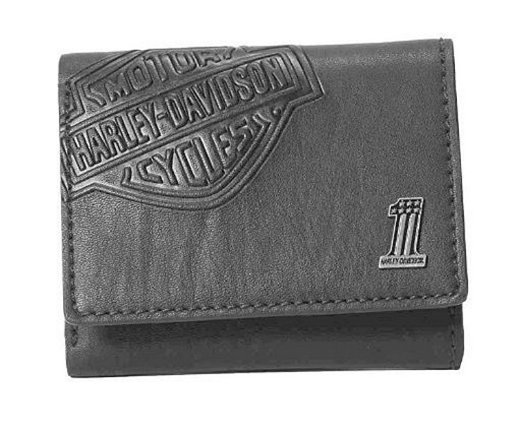 Harley-Davidson® Men's Bar & Shield® Classic Tri-fold Wallet | Black