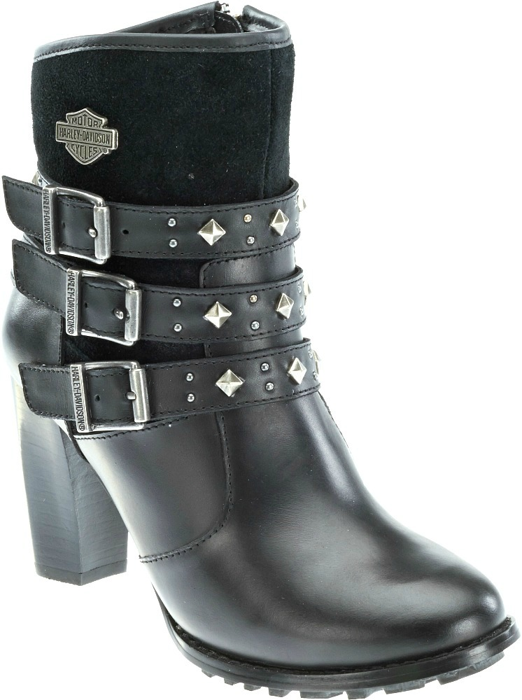 HARLEY-DAVIDSON® FOOTWEAR Women's Abbey Lifestyle Fashion Boots | Stacked Heel
