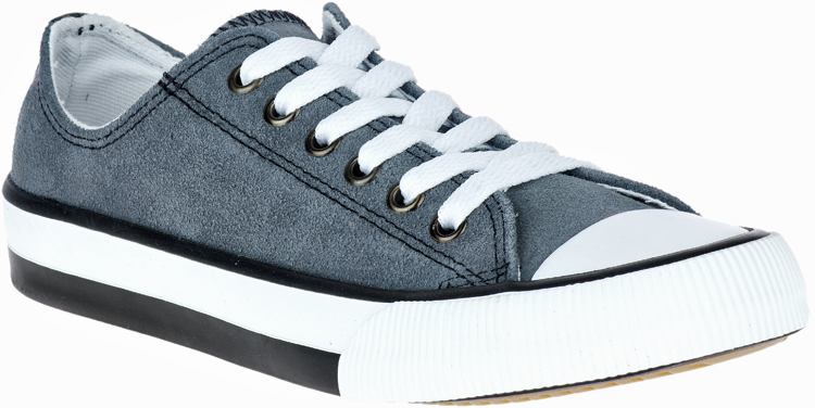 HARLEY-DAVIDSON® FOOTWEAR Women's Burleigh Leather Sneakers | Lifestyle Casual | Grey