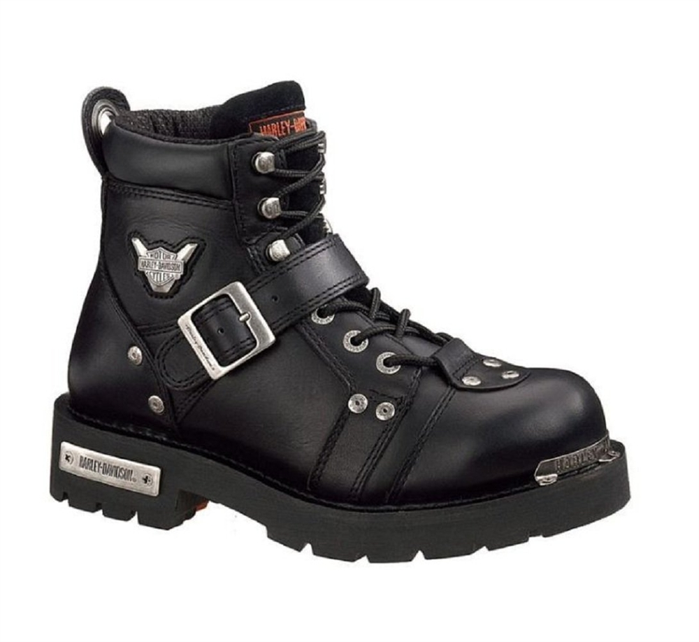 HARLEY-DAVIDSON® FOOTWEAR Men's Brake Buckle Black Leather Motorcycle Boots