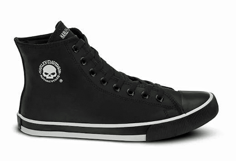 HARLEY-DAVIDSON® FOOTWEAR Men's Baxter Leather High Top Sneakers | Lifestyle Casual | Black