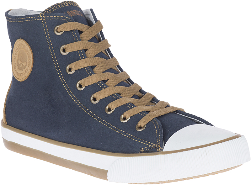 HARLEY-DAVIDSON® FOOTWEAR Men's Filkens Leather High-Top Sneakers | Lifestyle Casual | Blue