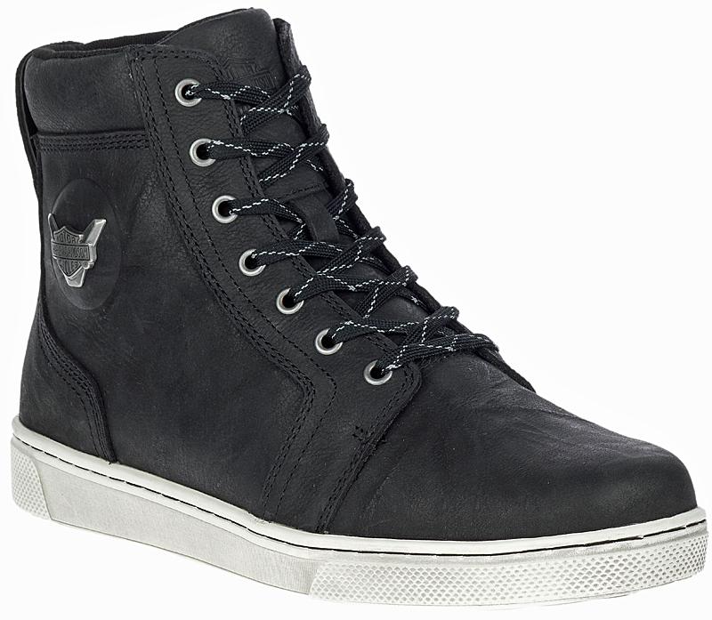 "HARLEY-DAVIDSON FOOTWEAR® Men's Bateman 5"" Metal Motorcycle Riding Sneakers | Black | Reflective Materials"