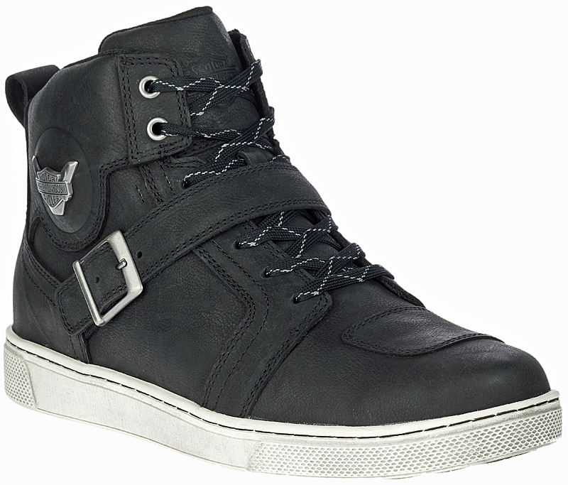 "HARLEY-DAVIDSON® FOOTWEAR Men's Bateman 4"" Metal Motorcycle Riding Sneakers 
