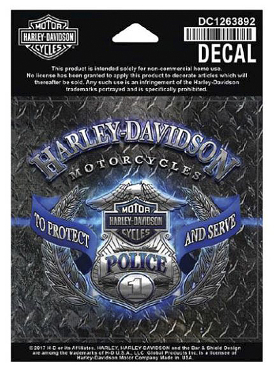 Harley-Davidson® Original Bar & Shield® Police Decal | Small
