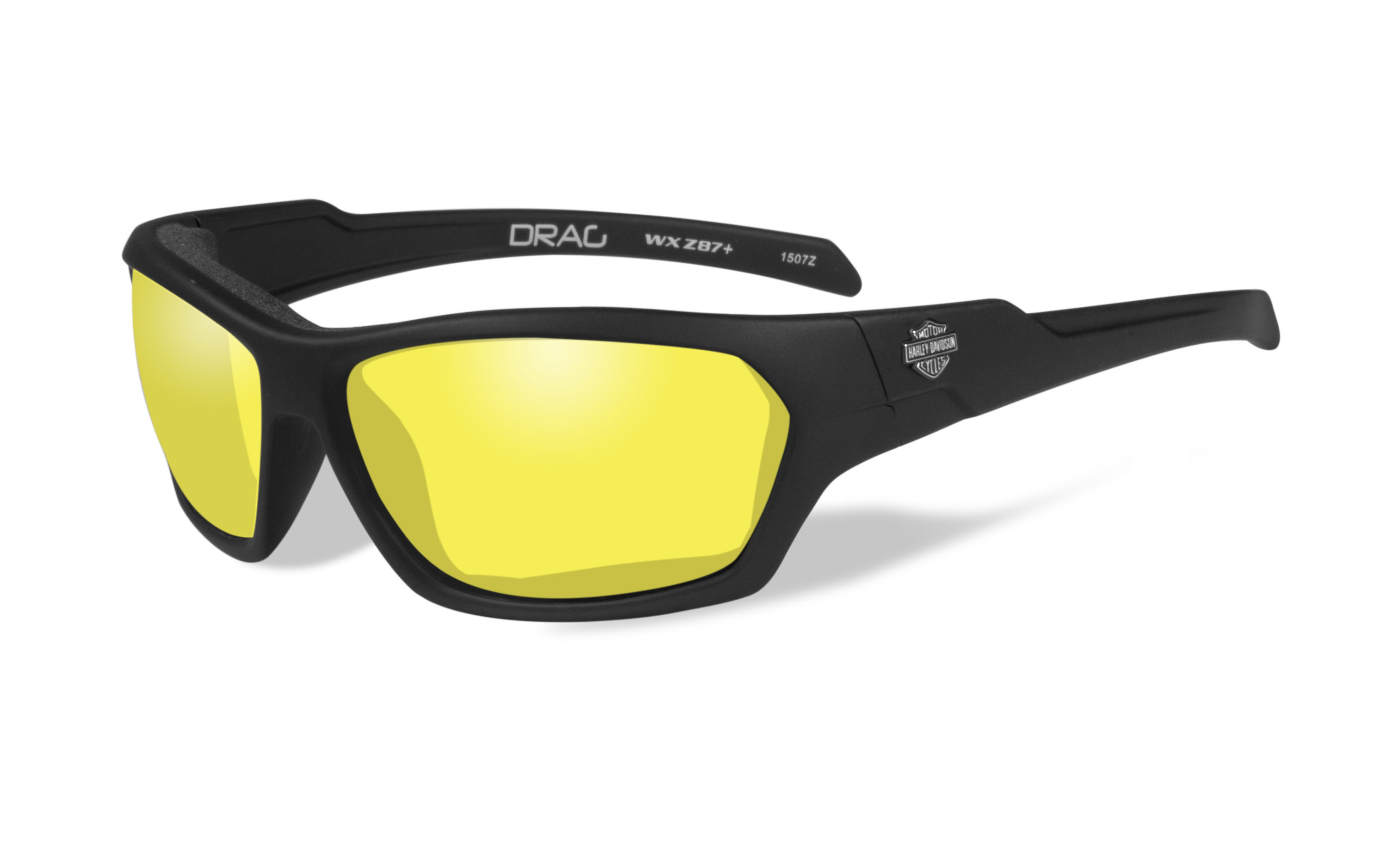 a34ed2bc991a Harley-Davidson® Men's Wiley-X® Drag Sunglasses | Yellow Lenses |  Matte