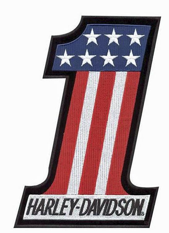 Harley-Davidson® Red, White & Blue #1 Emblem | Small