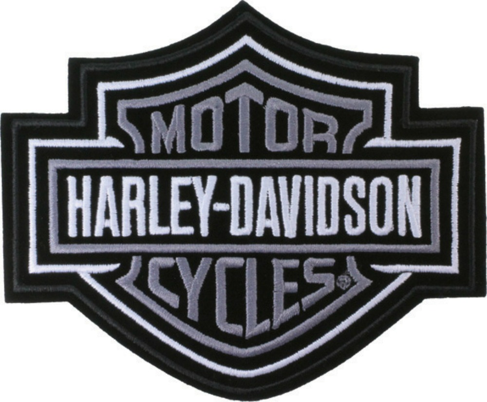 harley-davidson® bar and shield® silver large emblem emb302546