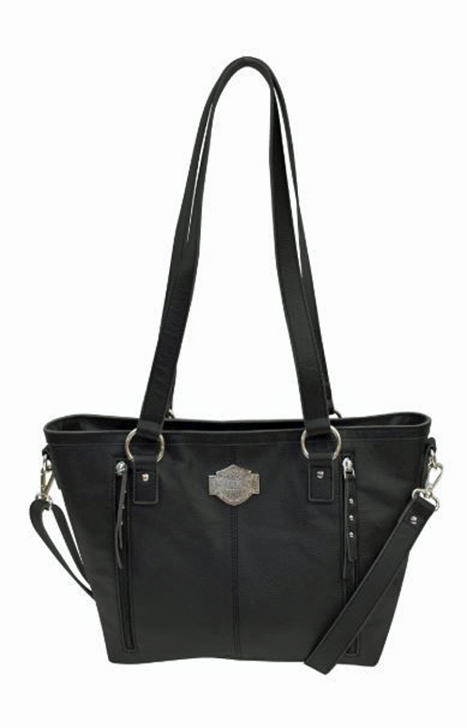Harley-Davidson® Women's Bar & Shield® Filigree Satchel | Adjustable /Detachable Strap