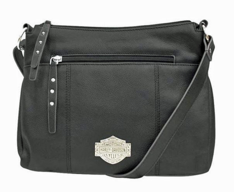 Harley-Davidson® Women's Bar & Shield® Filigree Crossbody | Adjustable Strap