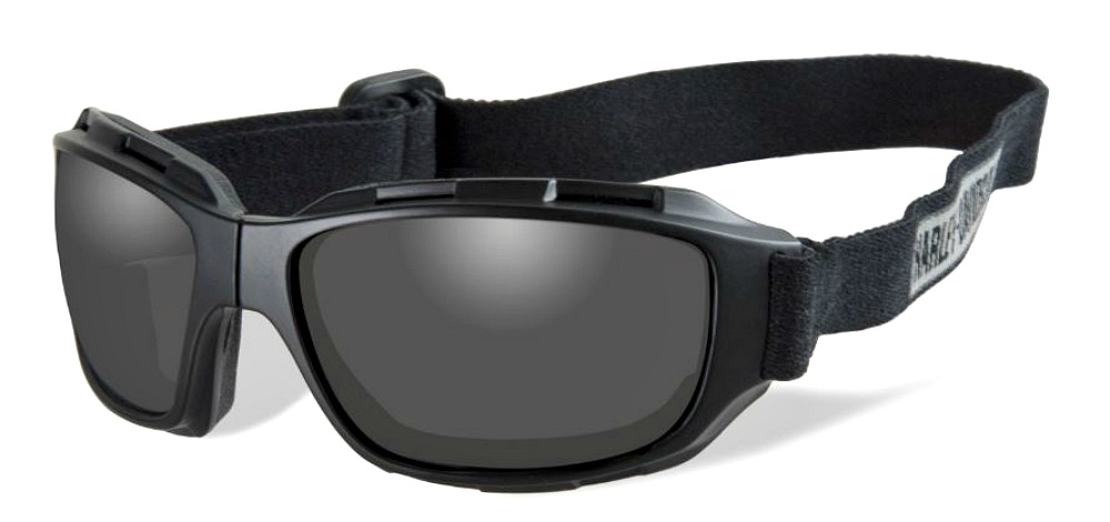Harley-Davidson® Unisex Wiley X® Bend Goggles | Collapsible | Smoke Grey Lenses | Matte Black Frames