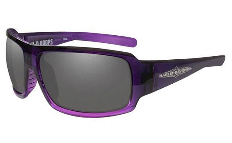 Harley-Davidson® Women's Wiley X® Hoops Sunglasses | Smoke Grey Lenses | Gradient Purple Frames