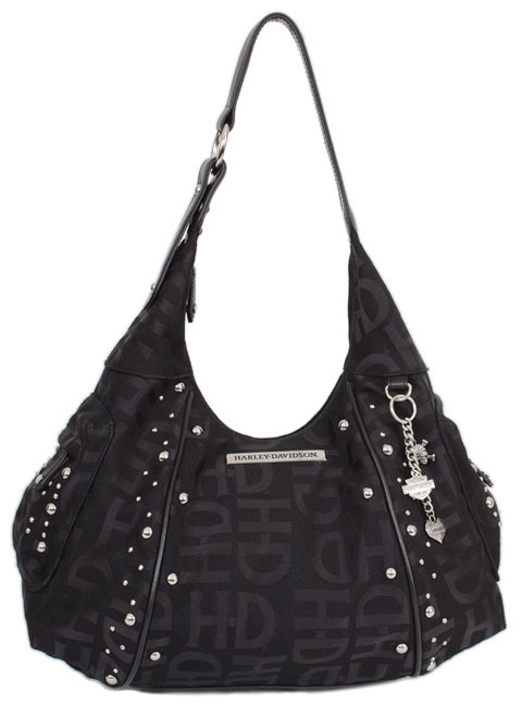 a34eb2a08b Harley-Davidson® Women s Jacquard Hobo Bag Purse Black HD3426J-BLACK