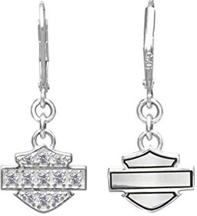 Harley-Davidson® Women's Bling Dangle Earrings | Bar & Shield®