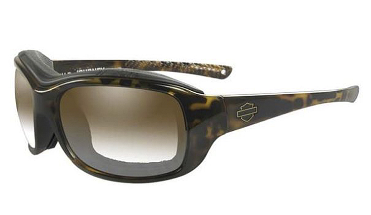 Harley-Davidson® Women's Wiley X® Journey Sunglasses | LA™ Light Adjusting Copper Lenses | Gloss Tortoise Demi Frame
