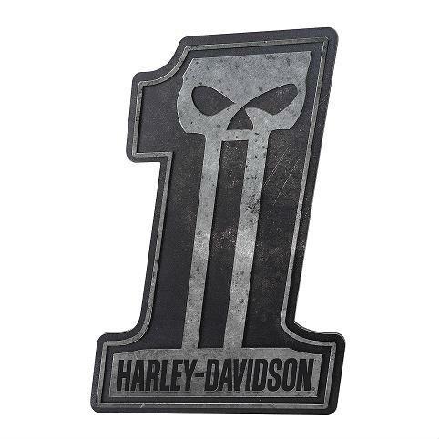 Harley-Davidson® Dark Custom #1 Sculpted Skull Pub Sign