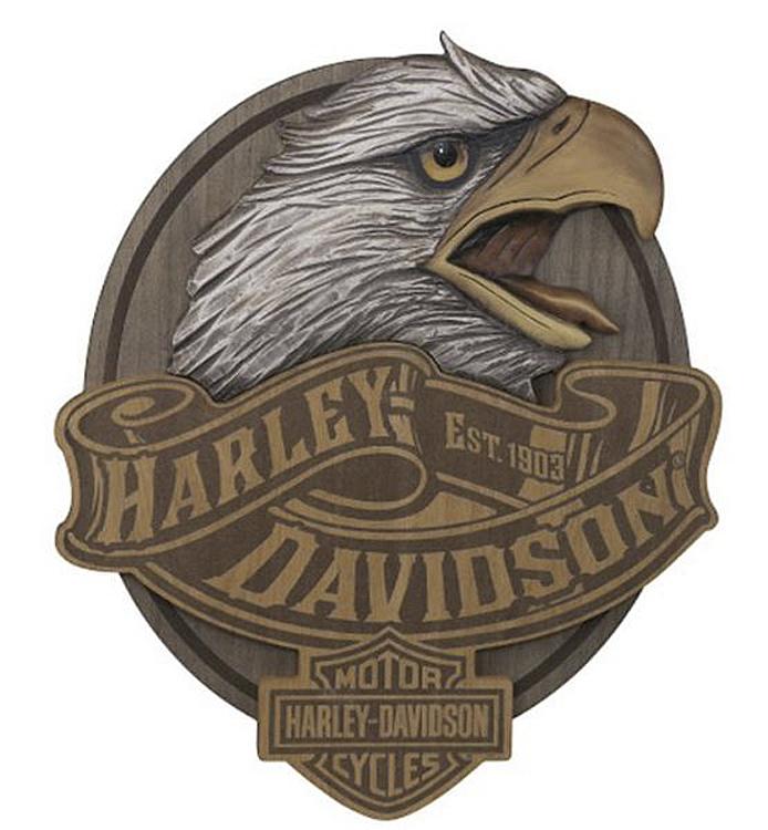 Harley-Davidson® Carved Eagle Pub Sign