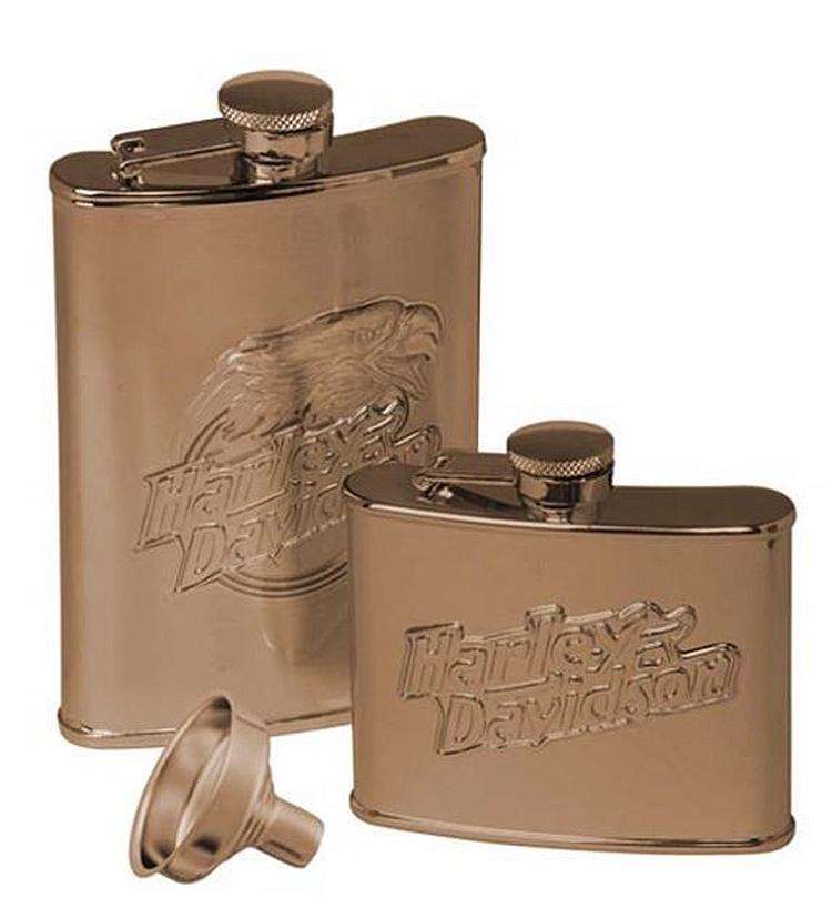 Harley-Davidson® Eagle Flask Set   Set of Two Flasks