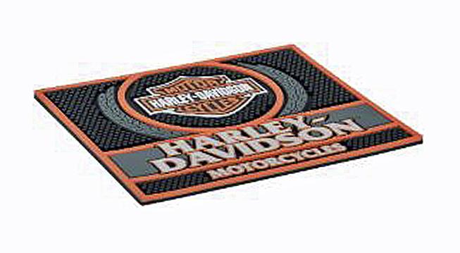 Harley-Davidson® Custom Motorcycles Rubber Bar Mat | Bar & Shield® Logo