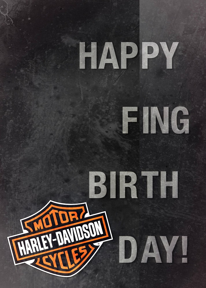 Harley davidson happy f ing birthday card hdl 20064 harley davidsonreg happy f ing birthday card bookmarktalkfo Image collections