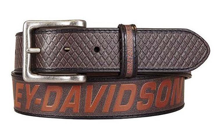 Harley-Davidson® Men's Free Rein Belt | Brown | American Flag Motif