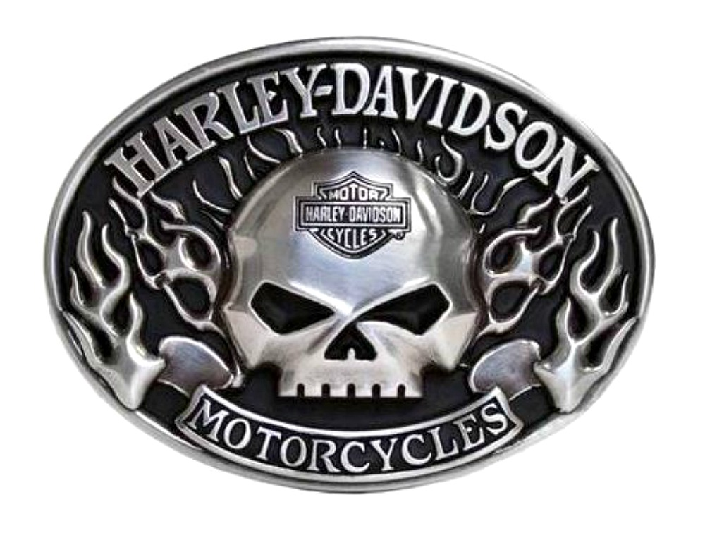 harley-davidson® men's immunity flame belt buckle | willie