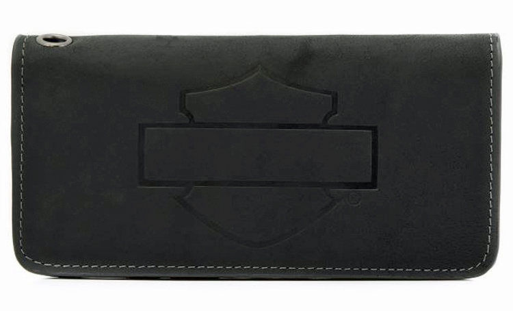 Harley-Davidson® Men's Refuel Trucker Wallet | Bar & Shield® Silhouette | RFID Protection