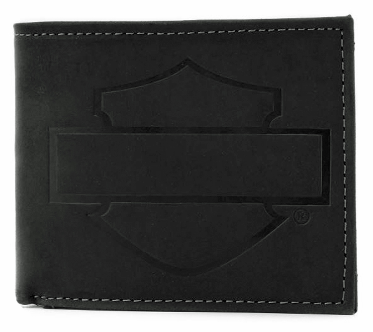 Harley-Davidson® Men's Refuel Bi-Fold Wallet | Bar & Shield® Silhouette | RFID Protection