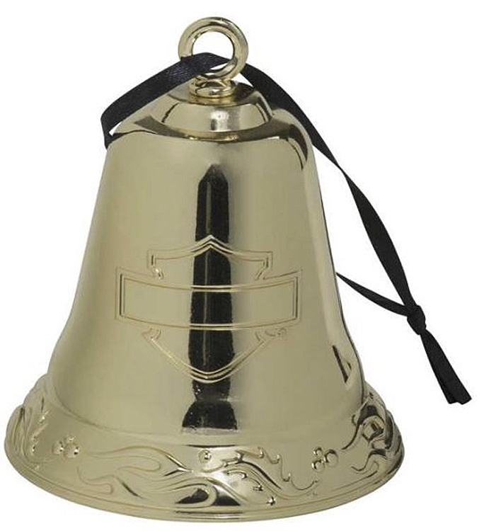 Harley-Davidson® Gold-Tone Metal Bell Ornament | Functional | Dated 2020 For Collectors