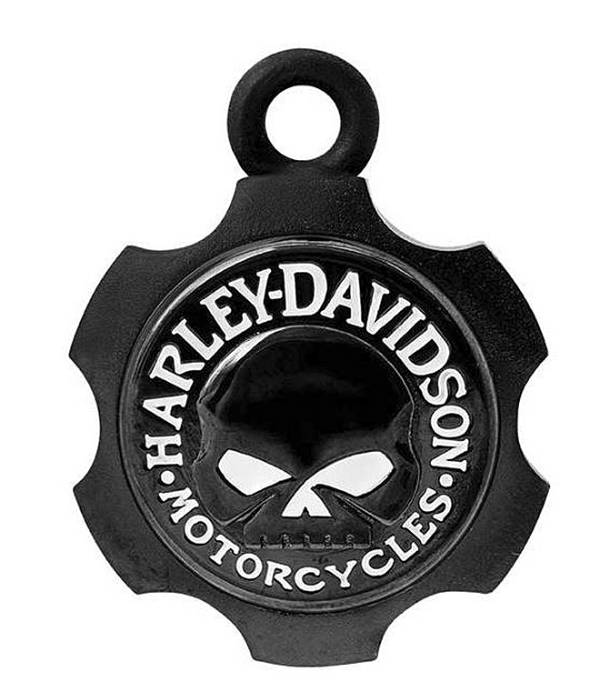 Harley-Davidson® Black Axel Skull Ride Bell | Willie G® Skull