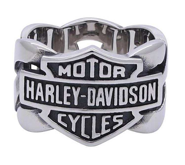 Harley-Davidson® Men's Chain Band Ring | Bar & Shield®