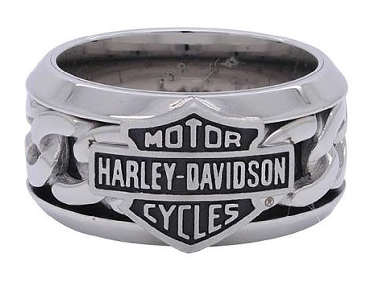 Harley-Davidson® Men's Bar & Shield® Chain Ring