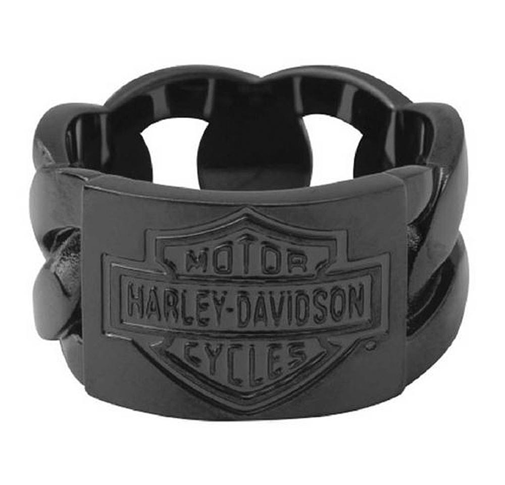 Harley-Davidson® Men's Blackout Chain Ring