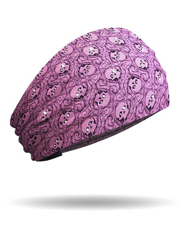 That's A Wrap!® Eye Spy Knotty Band™ Pink Head Wrap | Rhinestone Embellishments