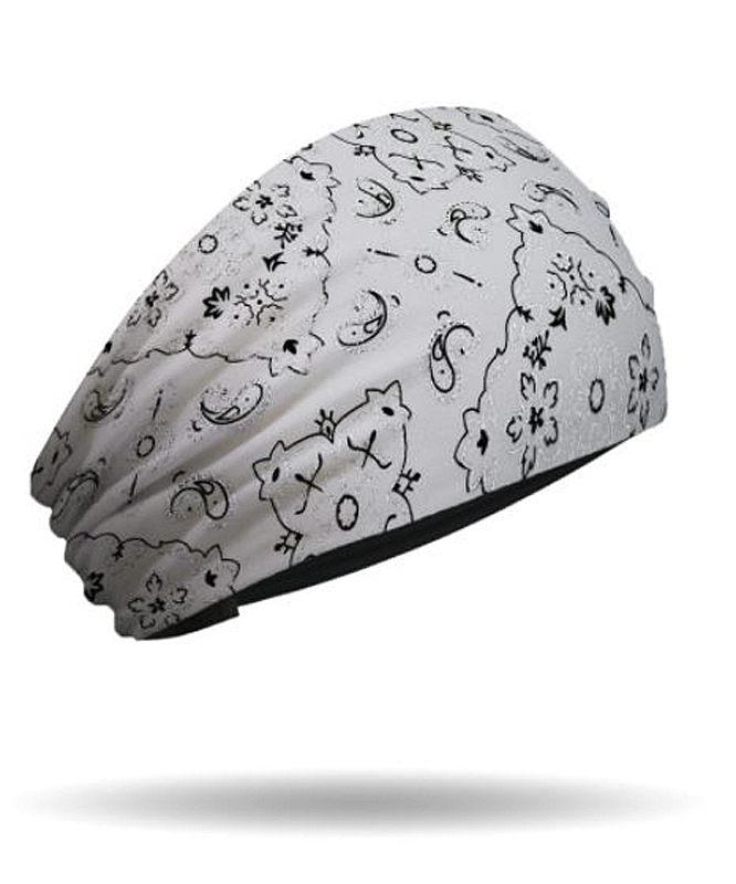Harley-Davidson® Women's Knotty Band™ Head Wrap | Foil | White