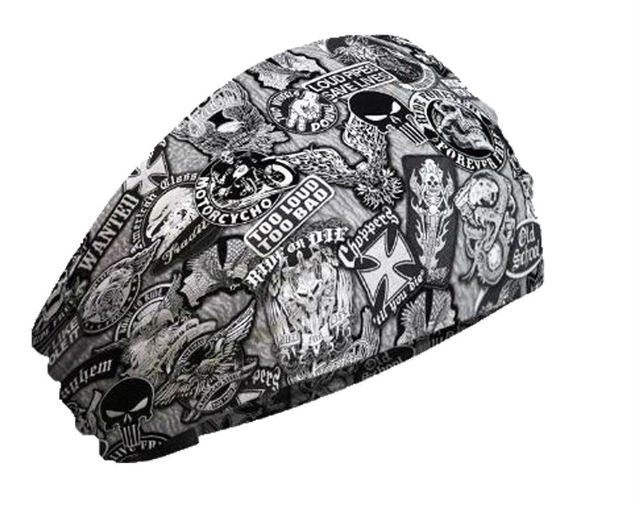 Harley-Davidson® Patches Knotty Band™  Head Wrap |  Black & White