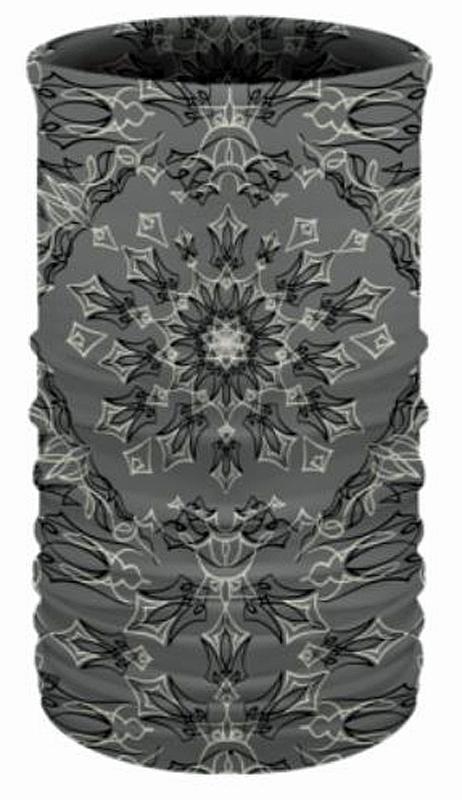 That's A Wrap!® Multi-Functional Tube Headwear   Pinstripe Bandana   Grey & Black