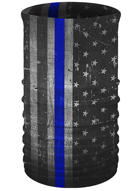 That's A Wrap!® Multi-Functional Tube Headwear | Service Flag | Thin Blue Line