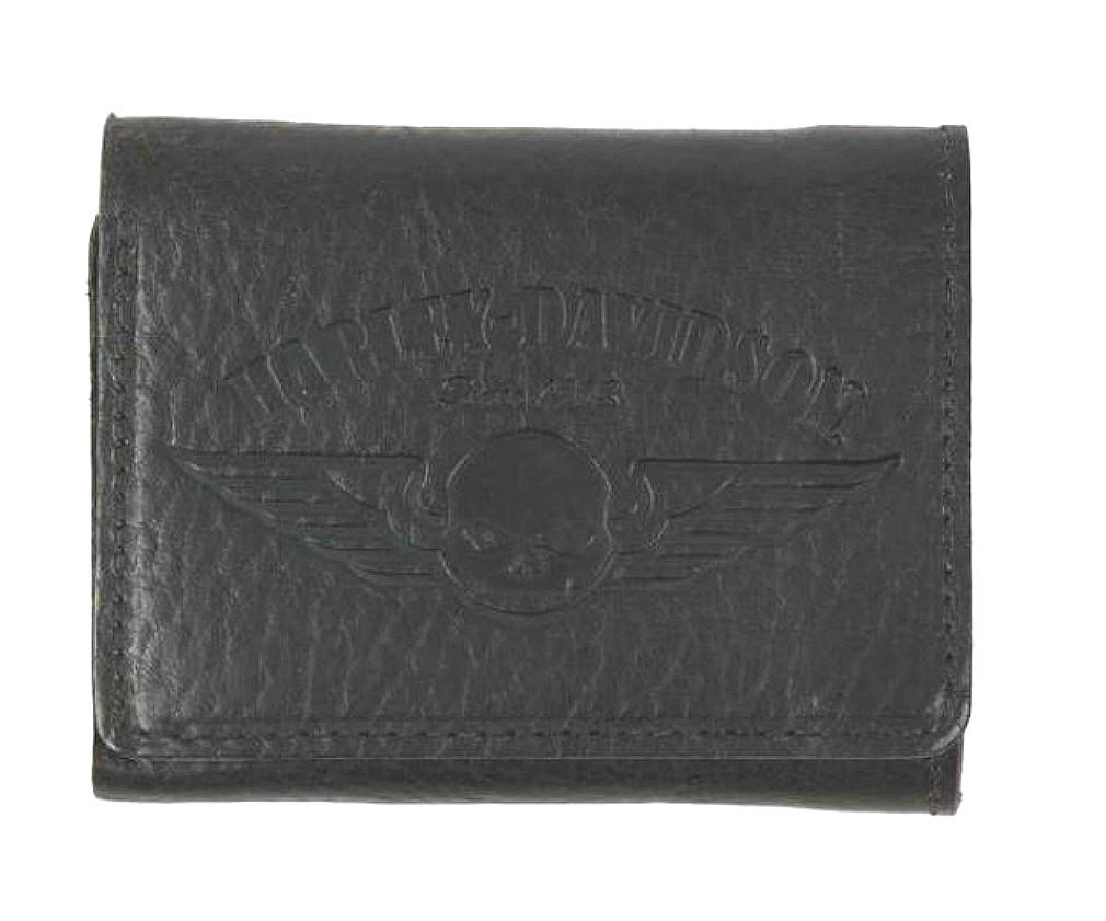 Harley-Davidson® Men's American Bison Skull Tri-Fold Wallet | Willie G® Skull Logo