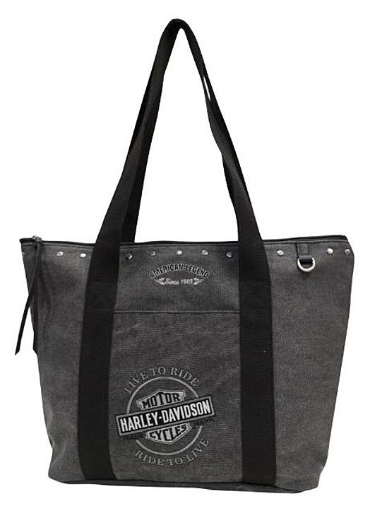 Harley-Davidson® Women's Bar & Shield® Embroidery Tote