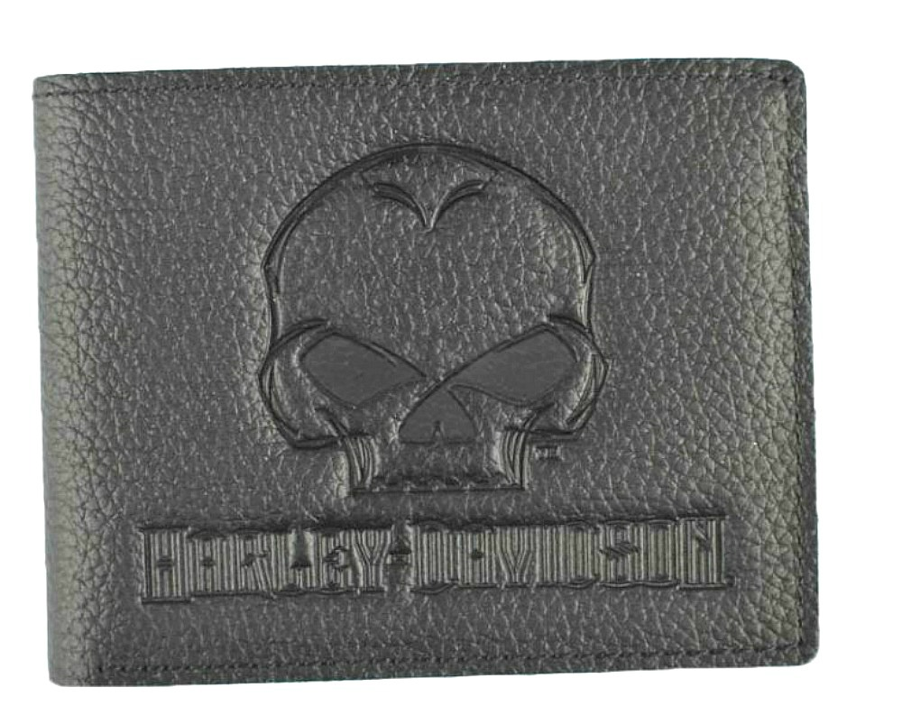 Harley-Davidson® Men's Willie G® Skull Embossed Leather Billfold Wallet