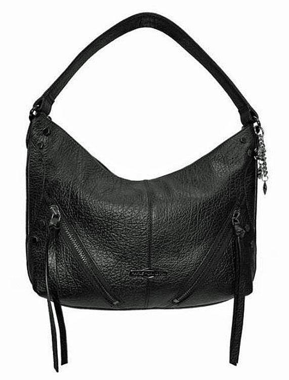 Harley-Davidson® Women's Zip-It Hobo Handbag   Fixed Shoulder Strap