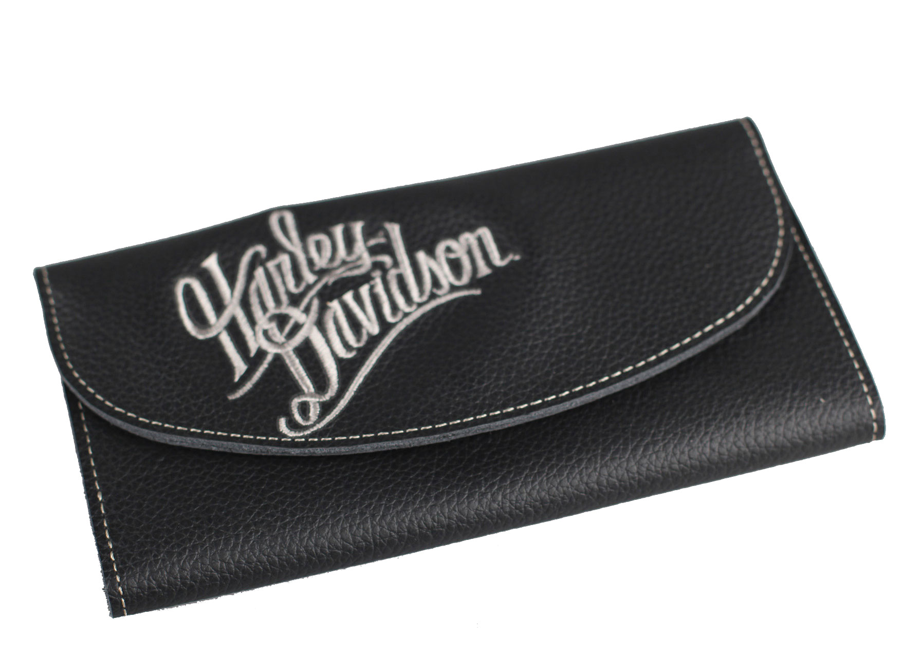 Harley-Davidson® Women's Embroidered Script Tri-Fold Wallet
